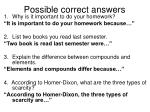 possible correct answers