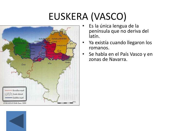 EUSKERA (VASCO)
