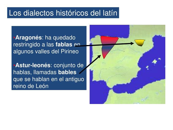 Los dialectos históricos del latín