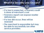 what if a security loss occurs