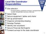 local site coordinator responsibilities