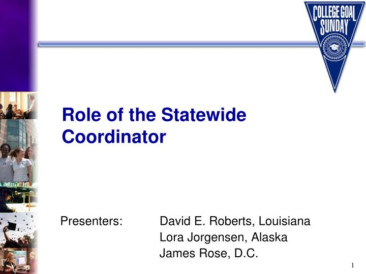 role of the statewide coordinator n.