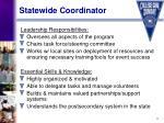 statewide coordinator