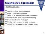 statewide site coordinator