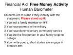 financial aid free money activity human barometer