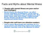 facts and myths about mental illness1