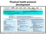 physical health protocol development