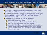 child abuse and the social control of nrms