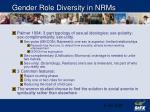 gender role diversity in nrms