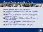 sexual deviance and the cults