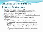 impacts of sw pbis on student outcomes