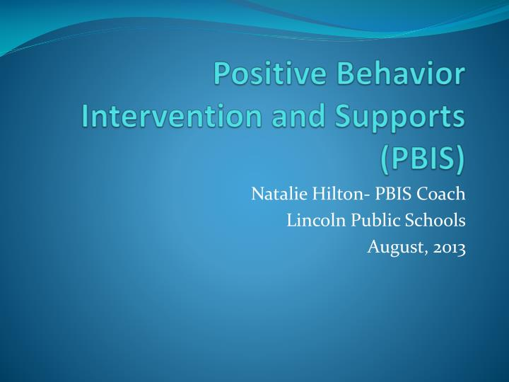 positive behavior intervention and supports pbis n.