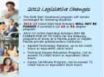 2012 legislative changes1
