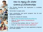 how to apply for state grants scholarships