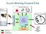 local alerting control unit