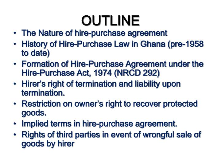 Ppt Commercial Law 1 20122013 Academic Year Hire Purchase Ugbs