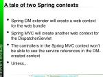 a tale of two spring contexts