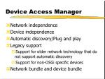 device access manager