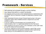 framework services