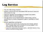 log service
