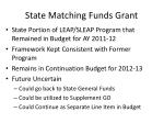 state matching funds grant