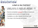 what is the fafsa