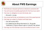 about fws earnings