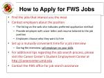 how to apply for fws jobs