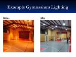 example gymnasium lighting