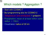 which models aggregation