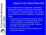 opportunity award benefits2