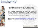 state grants scholarships