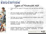 types of financial aid