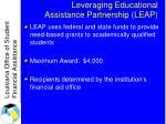 leveraging educational assistance partnership leap