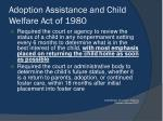 adoption assistance and child welfare act of 19802