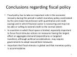 conclusions regarding fiscal policy