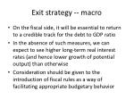 exit strategy macro2