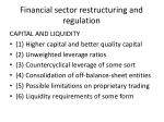 financial sector restructuring and regulation1