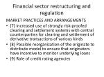 financial sector restructuring and regulation2