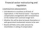 financial sector restructuring and regulation3