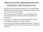 macroeconomic developments and interaction with financial crisis1