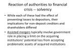 reaction of authorities to financial crisis solvency1
