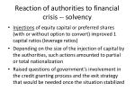 reaction of authorities to financial crisis solvency2