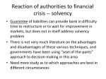 reaction of authorities to financial crisis solvency4