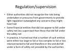 regulation supervision