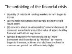the unfolding of the financial crisis2
