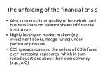 the unfolding of the financial crisis3