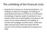 the unfolding of the financial crisis4