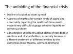 the unfolding of the financial crisis5