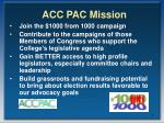 acc pac mission
